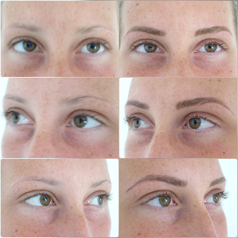 photo microblading avant après maquillage permanent